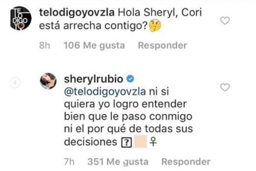 Sheryl Rubio rivalidad