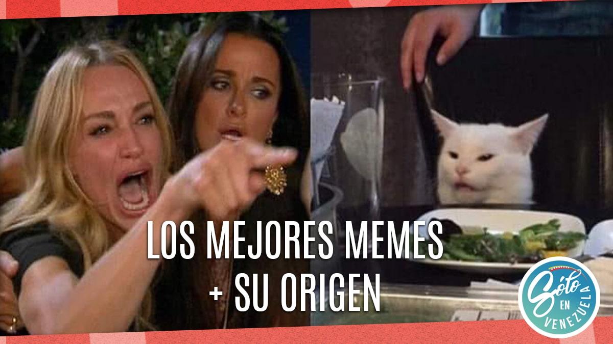 Memes Del Gato En La Mesa Y La Mujer Origen Solo En Venezuela