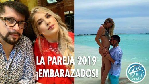 Irrael Gómez y Liarys Hernández anuncian la espera de un hijo