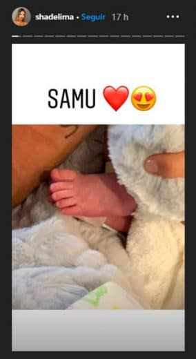 Samu hijo de James Rodriguez