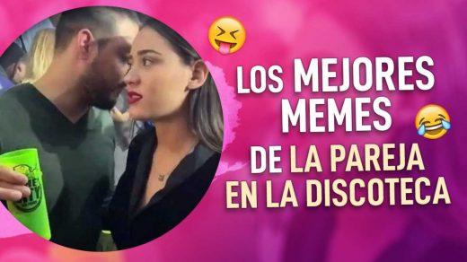 memes de pareja hablando en una discoteca