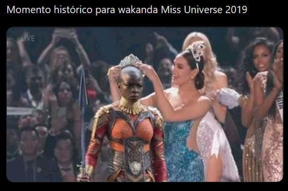 wakanda miss universe 2019 meme