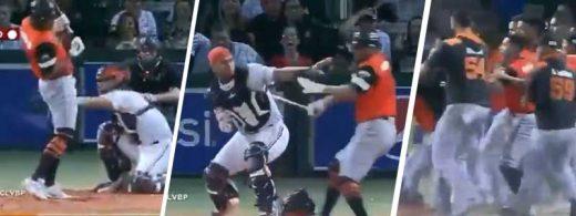 Alex Romero le cae a batazos al catcher