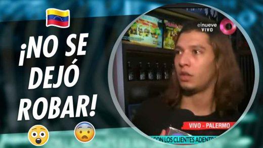 venezolano que no se dejó robar en argentina