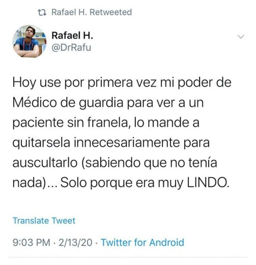 caso de twitter sobre doctor que abuso de paciente