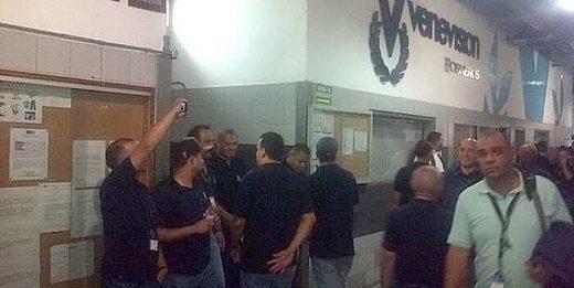 trabajadores de venevision protestan
