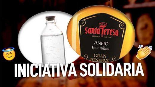 ron santa teresa producira alcohol en solidaridad