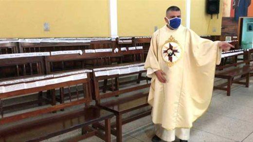 iglesia venezolana realiza misas sin gente