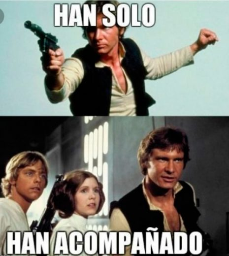 han acompañado meme de star wars