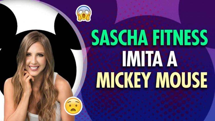 Sascha Fitness imita a Mickey Mouse