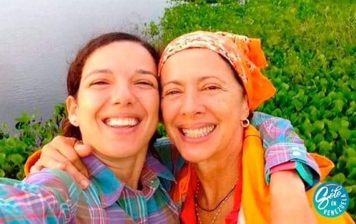 Valentina Quintero y su hija