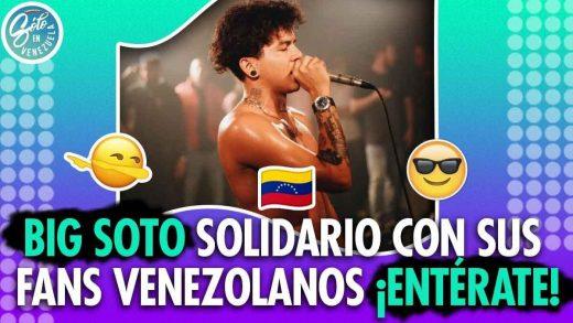 Big Soto hará conciertos gratis en Venezuela