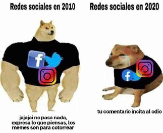 meme perro grande perro pequeño redes sociales