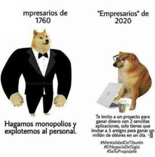 meme perro grande perro pequeño empresarios