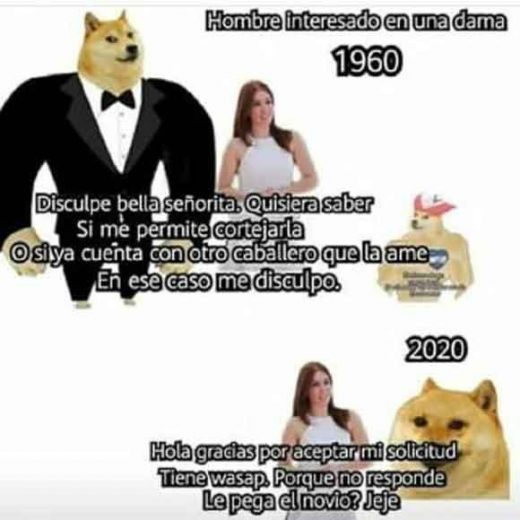 meme de hombres y damas