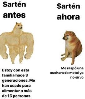 meme del perro musculoso y el debil