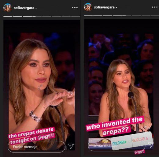 Sofía Vergara hace encuesta sobre nacionalidad de la arepa