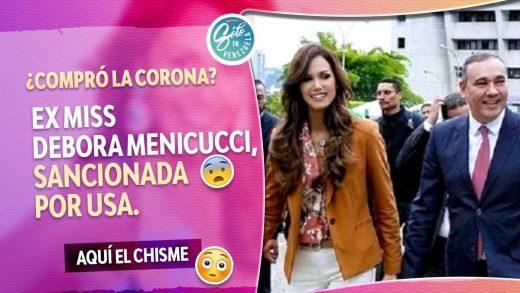 Debora Menicucci es sancionada