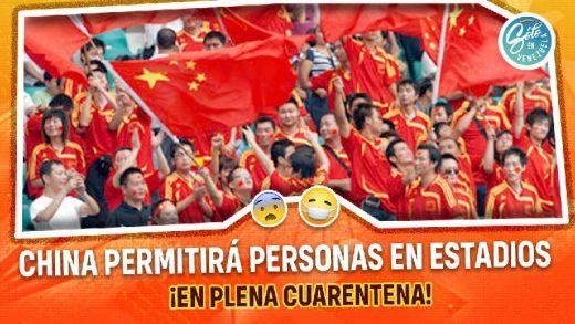 china autoriza presencia de personas en estadios de futbol