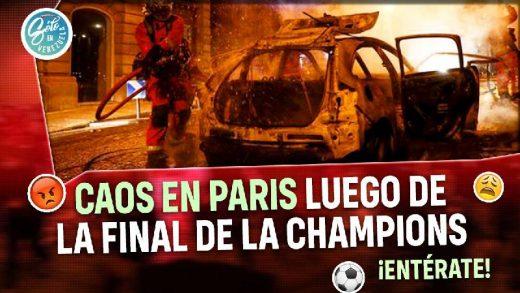 disturbios en paris luego de la final de la champions