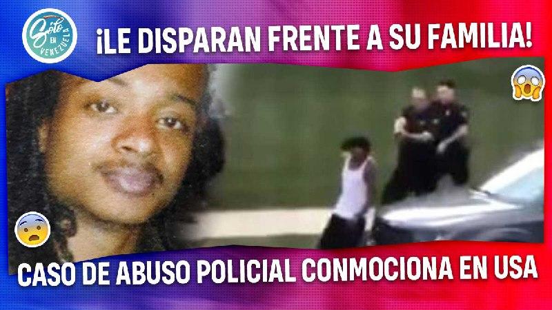 le disparan frente a su familia joven afroamericano victima