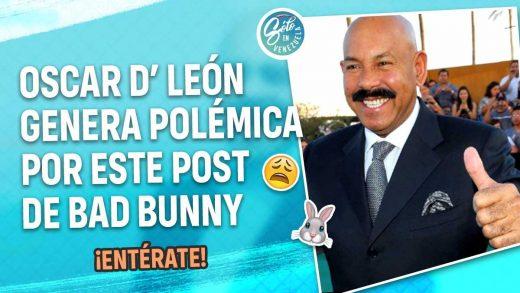 Oscar D' León apoya a Bad Bunny