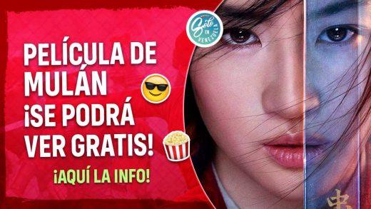 Mulán estará disponible gratis en Disney+