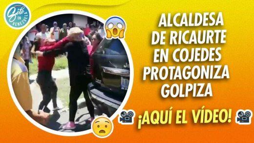 Alcaldesa de Cojedes se cae a golpes