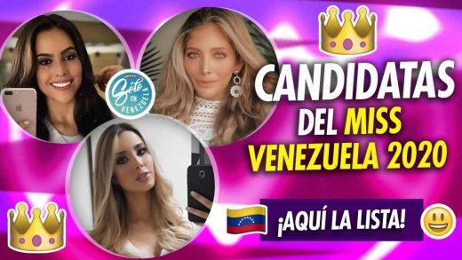 Candidatas del Miss Venezuela 2020