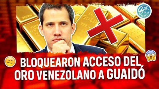 Reino Unido bloquea a Juan Guaidó acceso al oro
