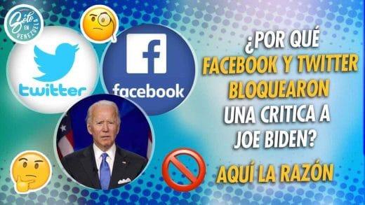 Facebook y Twitter censuran escándalo de Biden