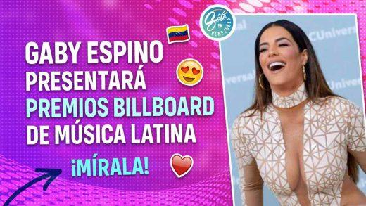 Gaby Espino será anfitriona en los Billboards