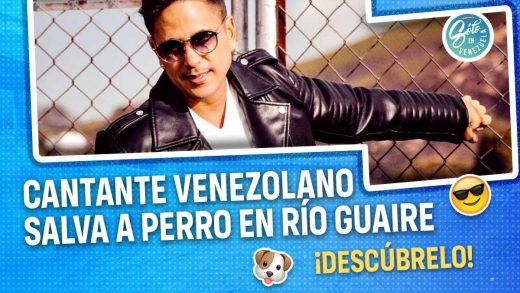 cantante venezolano rescata a perro