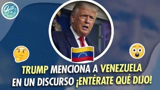 trump menciona a venezuela