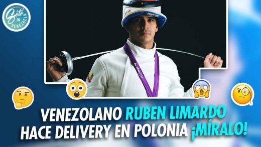 Rubén Limardo hace delivery en Polonia