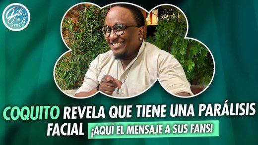 Actor venezolano Coquito con parálisis facial