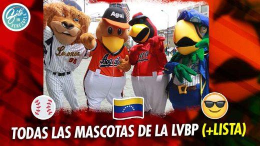 cuales son las mascotas de los equipos de beisbol de la LVBP