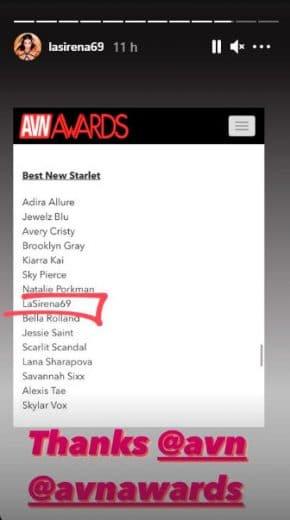 Antonella Alonso AVN Awards