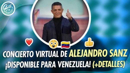 Concierto de Alejandro Sanz se podrá ver en Venezuela