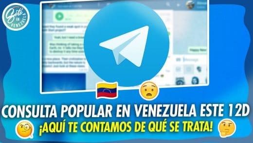 Consulta popular por Telegram en Venezuela