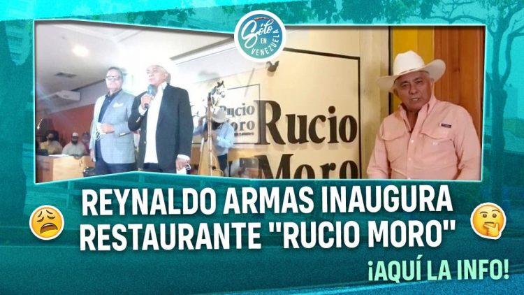 Reynaldo Armas inaugura restaurante