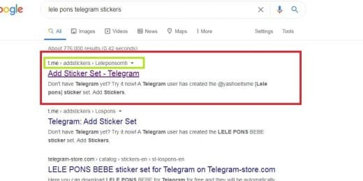conseguir stickers en Telegram