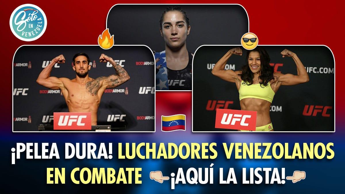 luchadores venezolanos lucha libre mma UFC
