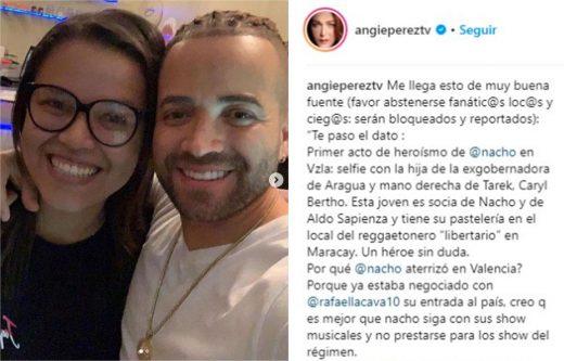 Angie Pérez pelea con Nacho