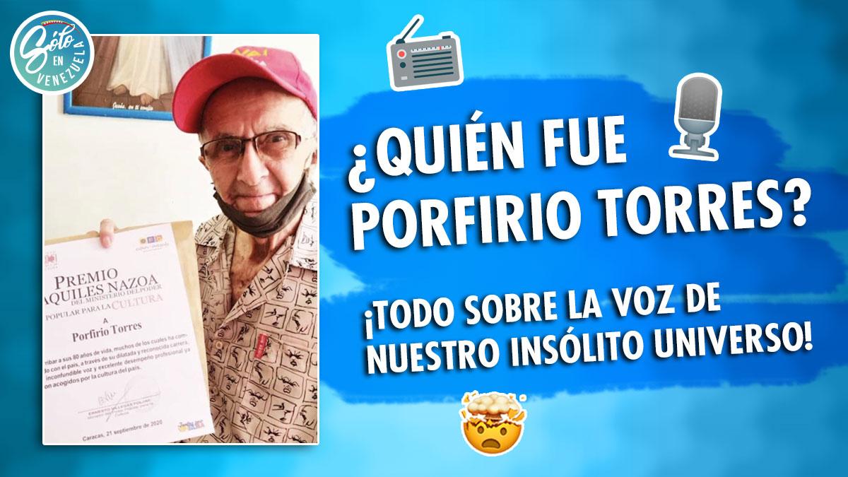 Porfirio Torres locutor venezolano
